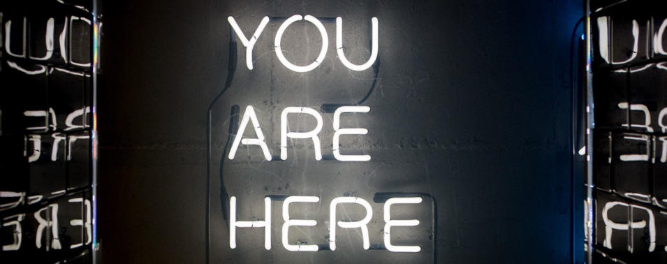 You are here right